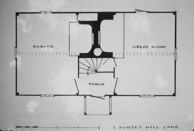 Jethro Coffin House - Note on slide: Plan