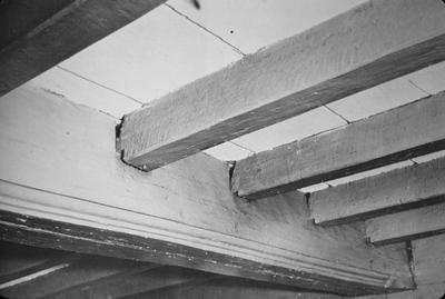 Blake House - Note on slide: Summer beams joists. Cummings / Framed Houses