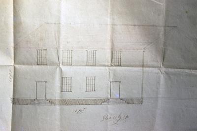 Pair Street Meeting House - Note on slide: Elevation by James Weeks
