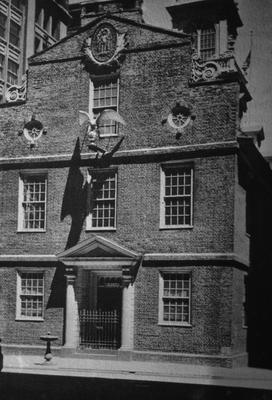 Old State House - Note on slide: Burned 1747