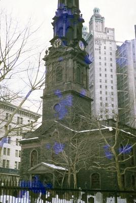 St. Paul's Chapel - Note on slide: Broadway and Fulton