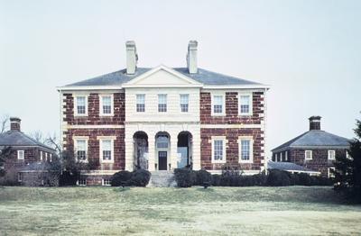 Mount Airy - Note on slide: Thomas Brightonunt Airy - Note on slide: Garden fa?ade. Adams / Jefferson's Monticello