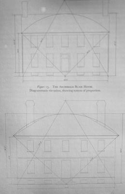 The Archibald Blair House - Note on slide: Diagram showing system of proportion
