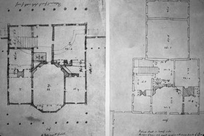 Governor's Palace - Note on slide: Jefferson's sketch. Plan