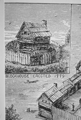 Blockhouse in Lexington - Note on slide: G.W. Rack's History of Lexington 1872