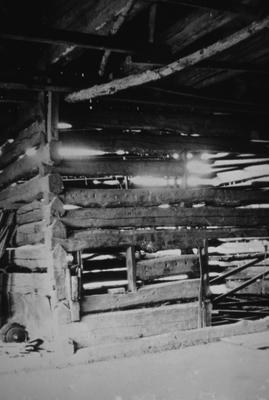 The Cedars / Lair Barn - Note on slide: Interior view