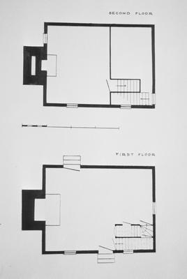 David Watts House - Note on slide: Floor plans