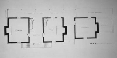 Joseph B. Carroll House - Note on slide: First floor plan