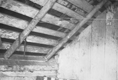 Mefford's Fort - Note on slide: View of rafters