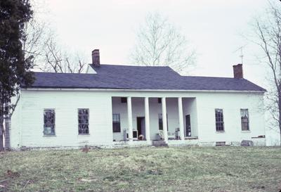 Lean-to-Log House - Note on slide: Coopers Run. South front