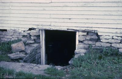 Lean-to-Log House - Note on slide: Coopers Run. Cellar door