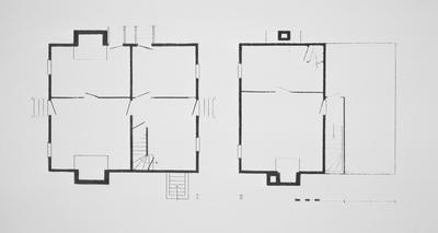 Lean-to-Log House - Note on slide: Coopers Run. Floor plans