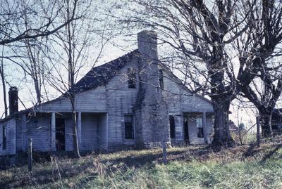 Log and Frame House - Note on slide: Vavarspar Road. Rufus Tocum Owner