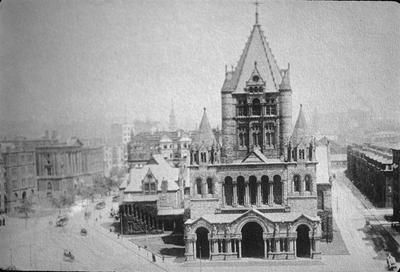 Trinity Church - Note on slide: Codley Square. M.D. Ross / Booker Boston