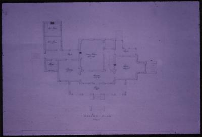 Villa for Robert Peter - Note on slide: Plan. By T. Lewinski