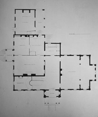 White Hall - Note on slide: First floor plan. C.M. Clay House