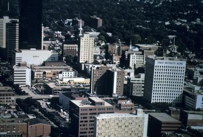 Lexington from the air - Note on slide: 1987-1988 Telephone Directory