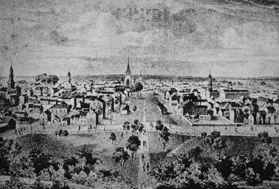 Lexington from Morrison College - Note on slide: Lithograph