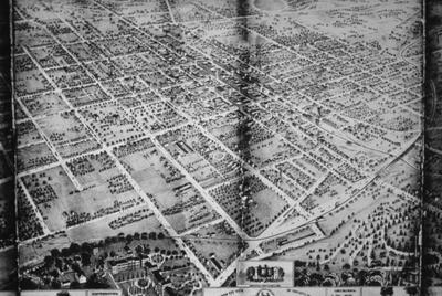 Bird's Eye View of Lexington - Note on slide: Looking southwest