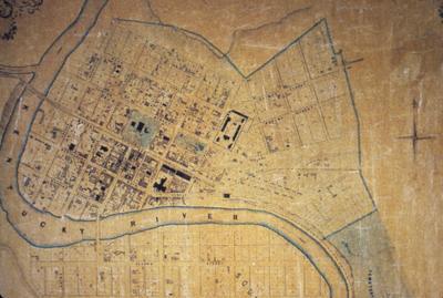 Map of Frankfort - Note on slide: Kramer / Capitol on the Kentucky