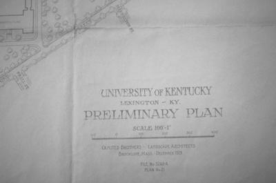 University of Kentucky Preliminary Plan - Note on slide: Detail of plan