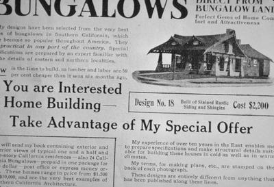 Bungalow Ad - Note on slide: Origin of Maxon House in Lexington. House Beautiful, May 1908