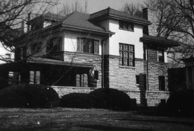 Leonard G. Cox House - Note on slide: W. 3rd Street