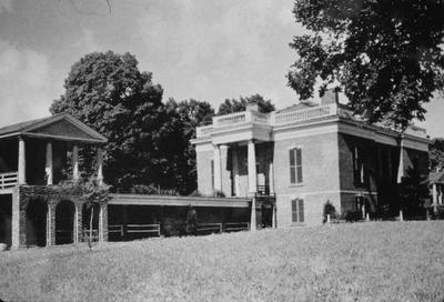 General John Cocke House (Bremo) - Note on slide: South front. Bremo. Thomas Jefferson, Conneley, John Neilson