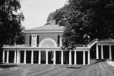 University of Virginia - Note on slide: Pavilion IX. Ionic of Temple Fortuna Virilis. Influence of Ledoux. Photo by Clay Lancaster