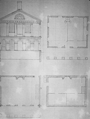 University of Virginia - Note on slide: Jefferson's sketch of the plan and elevation for pavilion VII