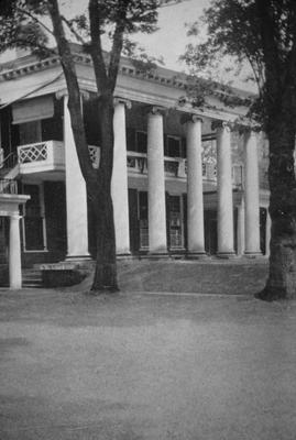 University of Virginia - Note on slide: Pavilion II. West lawn. After Pallodio