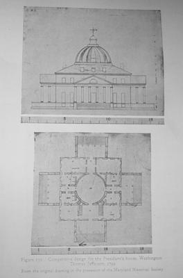 Jefferson Design for President's House - Note on slide