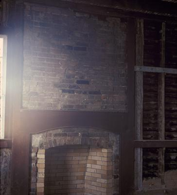 First Story, North Room Family House - Note on slide: View of Brick Fireplace