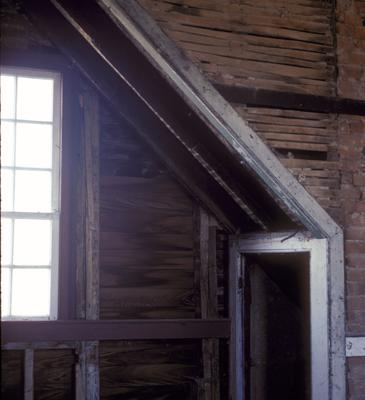 First Story, North Room Family House - Note on slide: Interior View of Window and Doorway
