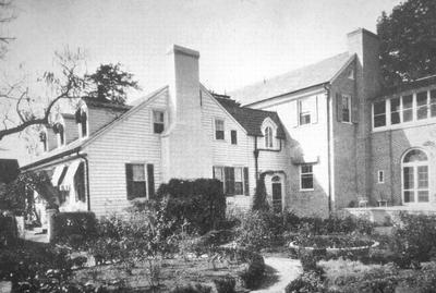 Alexander Scott Bullit House, Oxmoor, Jefferson County - Note on slide: Exterior View Thomas / Old Kentucky Homes and Gardens