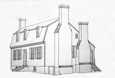 Spring Hill - Note on slide: Restored Sketch