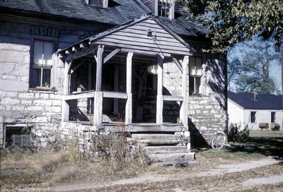 John Scott House - Note on slide: Exterior view of house and portico