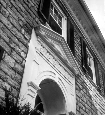 McKee House - Note on slide: Exterior view of facade