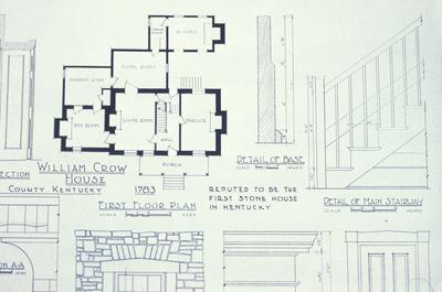 William Crow House - Note on slide: Architectural detail drawing