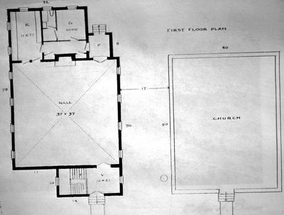 Walnut Hill Church - Note on slide: Floor plan
