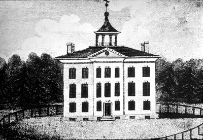 First Kentucky state house - Note on slide: Architectural drawing from N.Y. Magazine or Literary Repository, July 1796