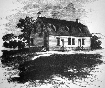 First meeting house - Note on slide: Exterior view - print