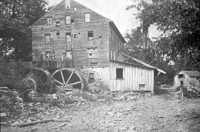 Pleasant Hill Derelict Gristmill - Note on slide: Exterior view of mill