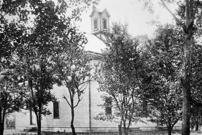 Union village meeting house - Note on slide: Exterior view of meeting house