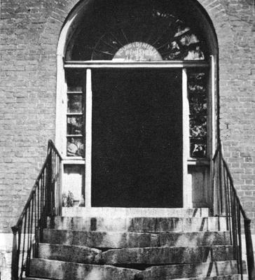 North lot family house - Note on slide: Doorway. The Simple Spirit. Thomas, Samuel W., [Harrodsburg, Ky.] Pleasant Hill Press, 1973. p. 110