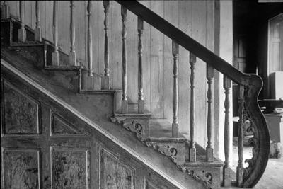William Whitley house staircase - Note on slide: View of staircase and banister, (Habs) photo