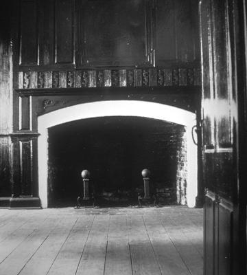 William Whitley house parlor mantel - Note on slide: View of parlor mantel