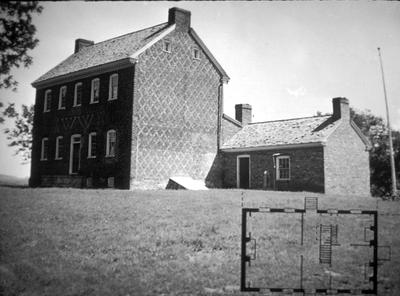 William Whitley house - Note on slide: Exterior view and floor plan