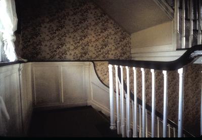Thomas Marshall house - Note on slide: Stairway landing. Photo by H. Sparks