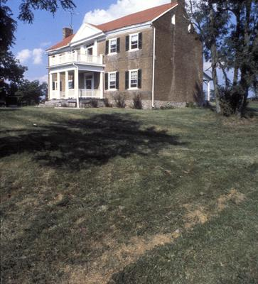 Thomas Marshall house - Note on slide: Exterior view. Photo by H. Sparks